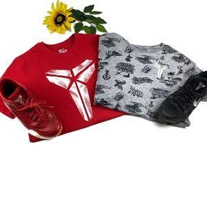 Two Kobe Bryant Nike Dri fit shirts black mamba XL